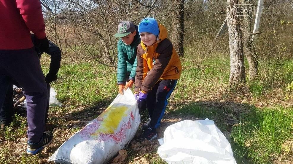 Більше 100 мішків сміття зібрали і вивезли волонтери з лісу, що поблизу Новомосковська, фото-7