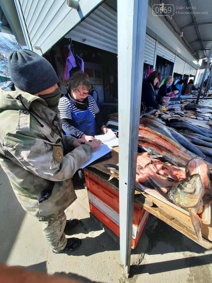 Продавців риби на центральному ринку Новомосковська перевірили на наявність дозвільних документів, фото-6