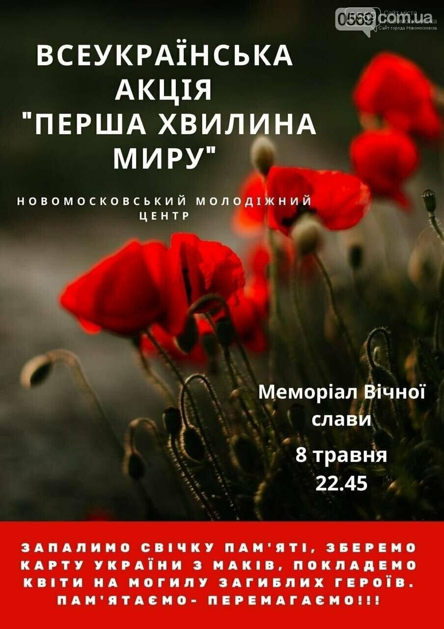 """""""Перша хвилина миру"""":  Новомосковський молодіжний центр провів акцію, фото-12"""