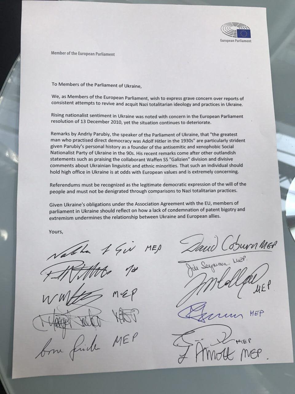 Вилкул: В Европарламенте идет сбор подписей под обращением к Раде с предложением уволить Парубия, фото-1